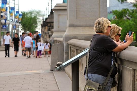 The Tourists by the Ottawa Locks