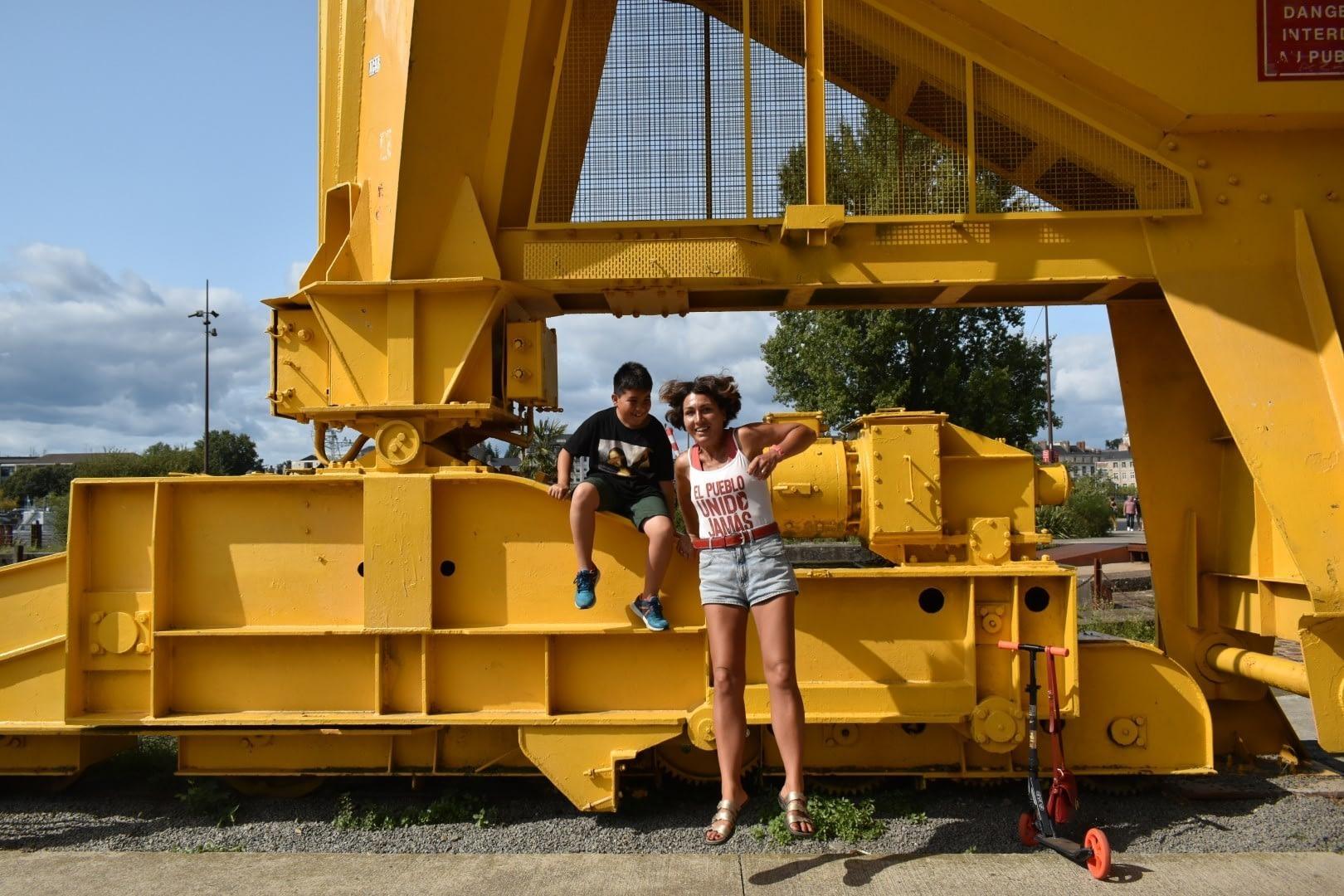 La grue jaune, Île de Nantes