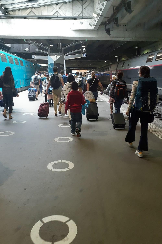 Arriving in Paris, Gare Montparnasse, Paris