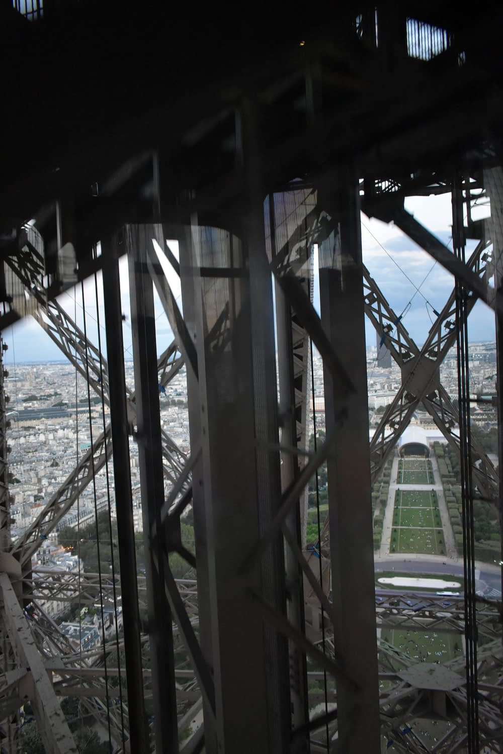 In the elevator to the top of the Eiffel Tower, Paris
