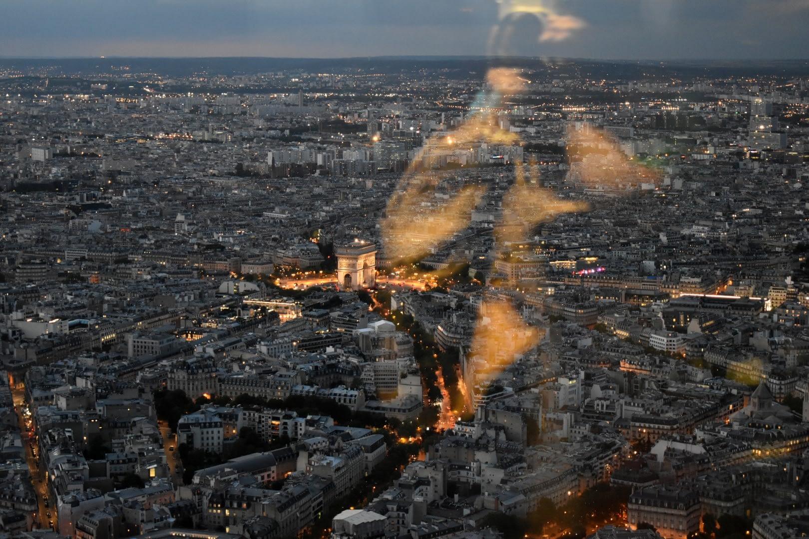 Arc de Triomphe, top of the Eiffel Tower, Paris