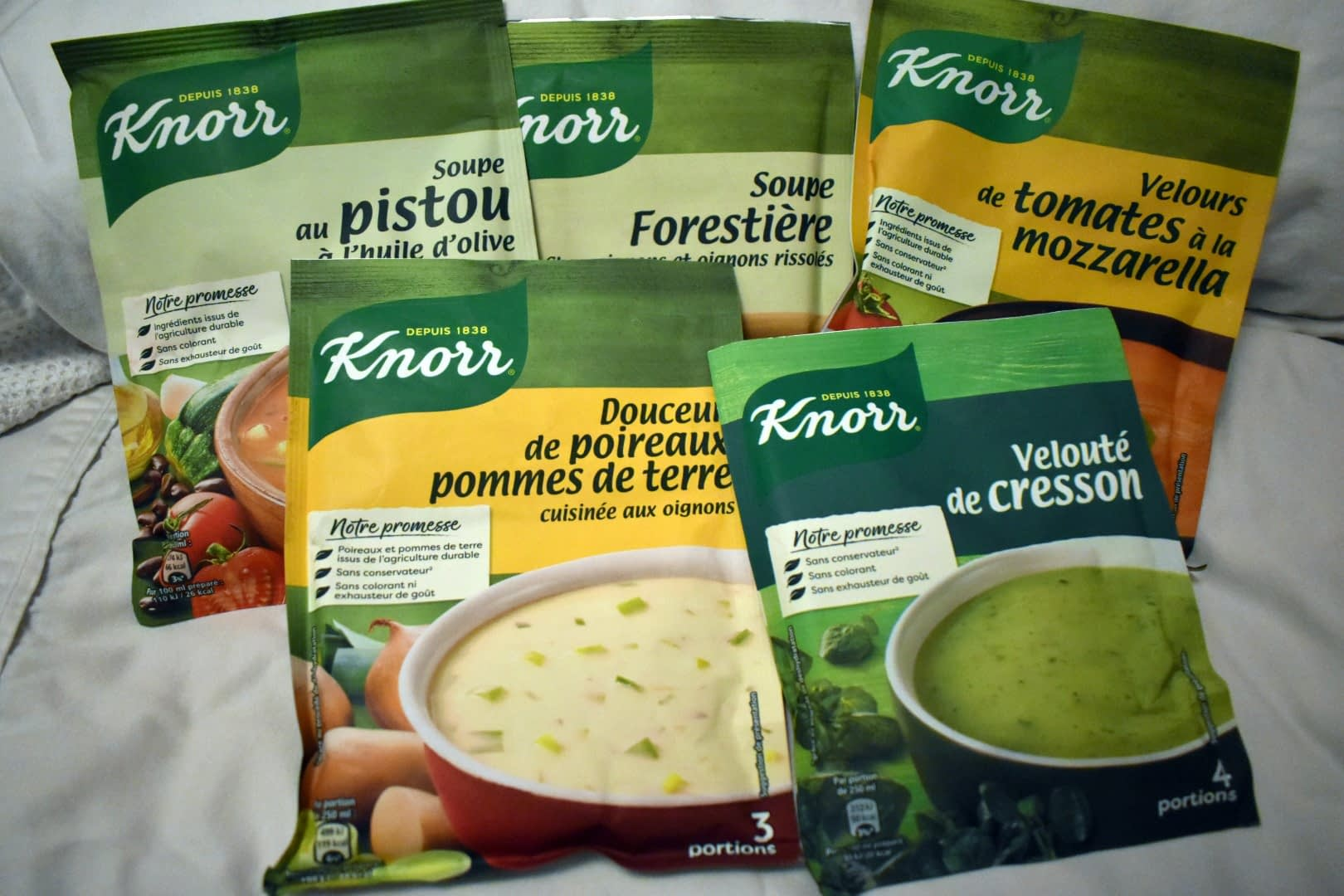Instant soup (don't laugh, it's very comforting when it gets cold!)