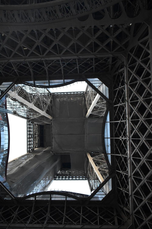 Bottom of the Eiffel Tower, Champ de Mars, Paris