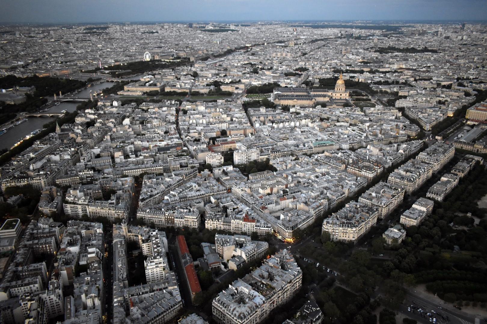 Rive gauche, top of the Eiffel Tower, Paris