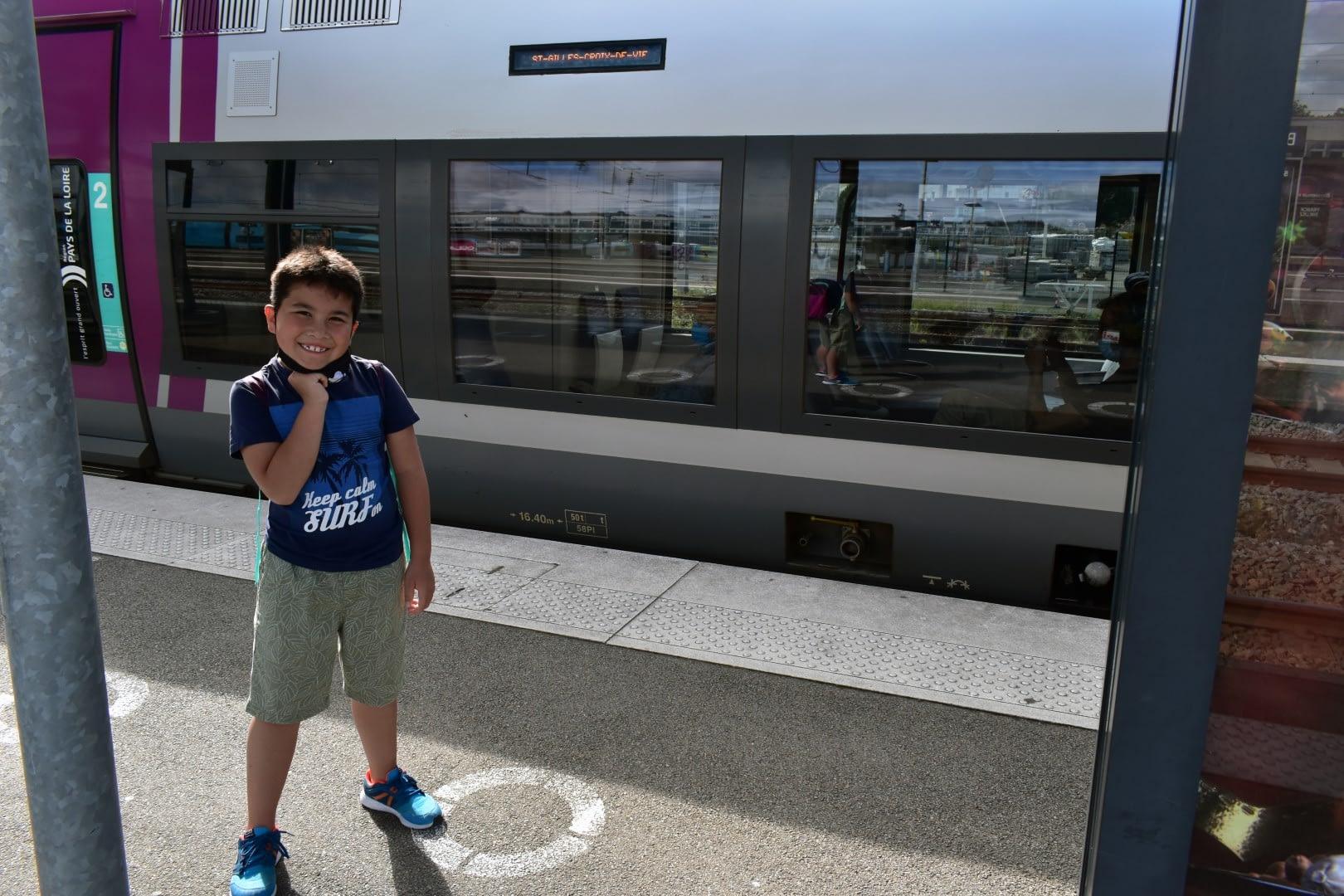 Train to Saint-Gilles-Croix-de-Vie ,Gare de Nantes