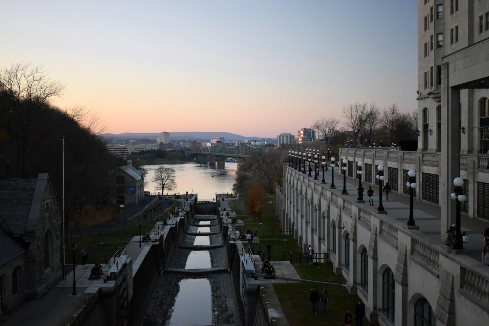 Rideau Canal, Locks 1 - 8 , Ottawa, November 2020