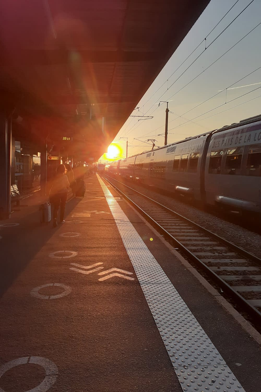 Sunrise at Nantes' train station