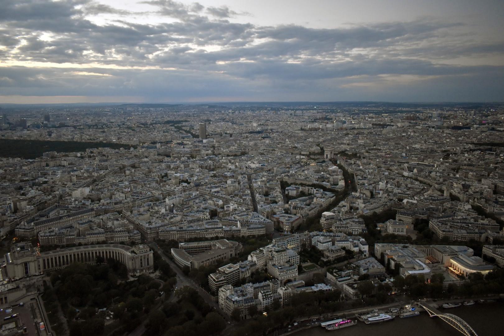 Rive droite, top of the Eiffel Tower, Paris