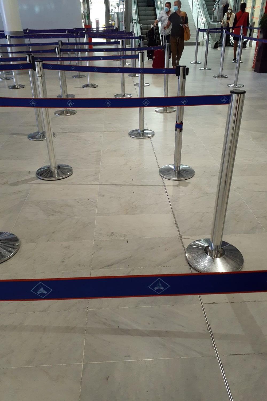 Passport control, Charles de Gaulle airport in Paris