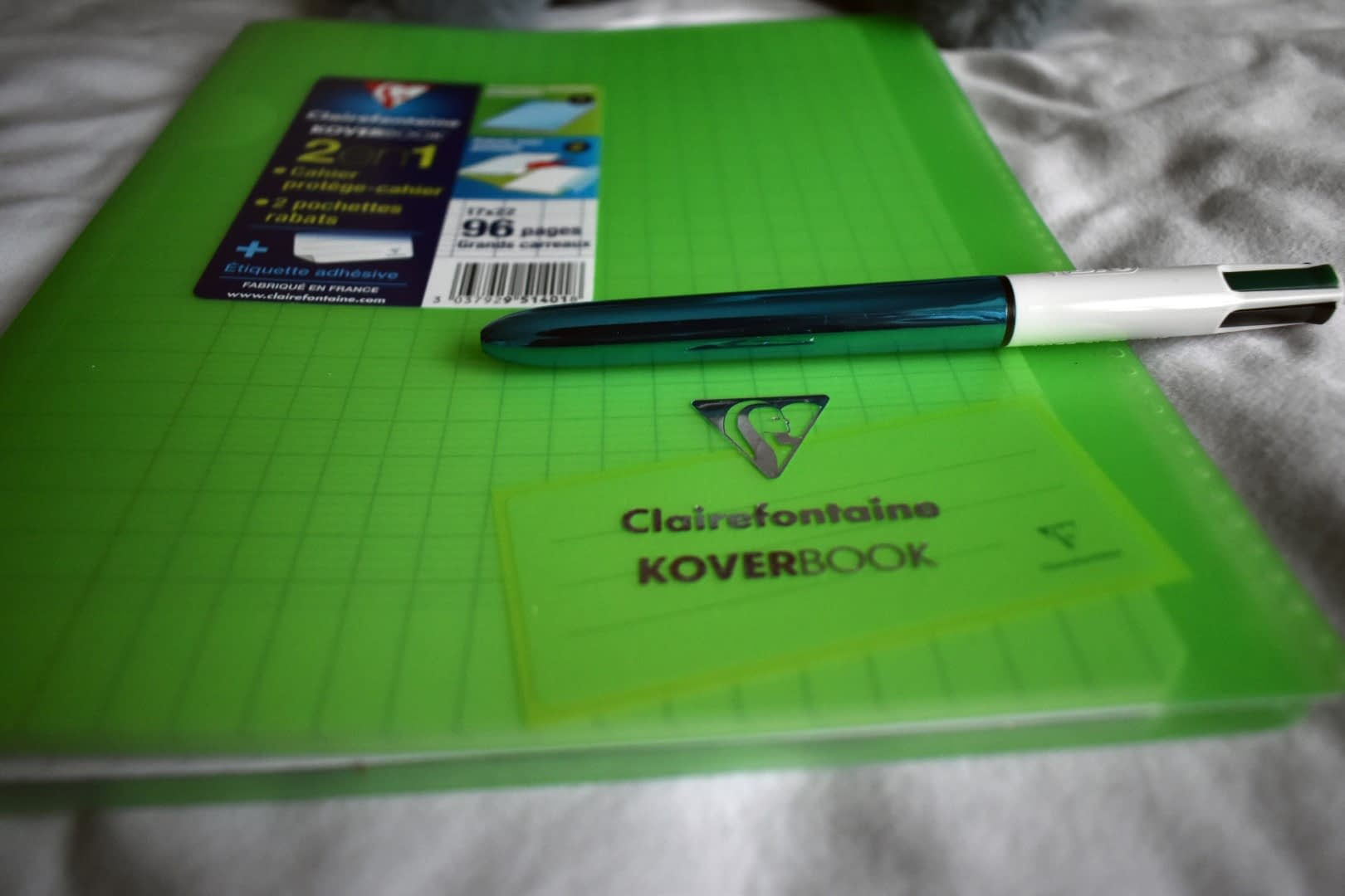 Clairefontaine notebook and BIC classic ballpoint pen
